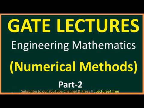 Numerical Methods part-2 || Engineering Mathematics for GATE