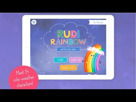 Rudi Rainbow and the lost colors 🌈 Weather learning App for kids (Trailer)
