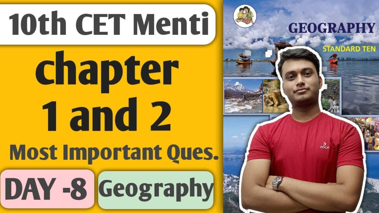 Day 8 || Chapter 2 class 10 || geography || menti quizzes || new indian era #nie