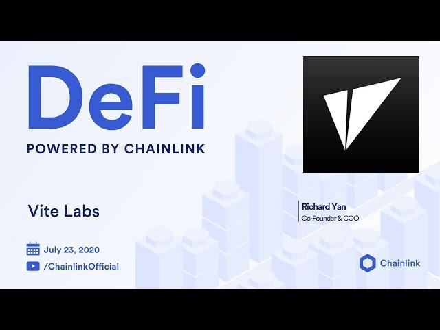 Vite Labs and Chainlink Live Q&A: DAGs, DEXs, & Decentralized Oracles