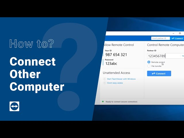 How to: Connect to other computer