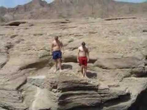 enjoyong a fresh dip in hatta pools (DUBAI)