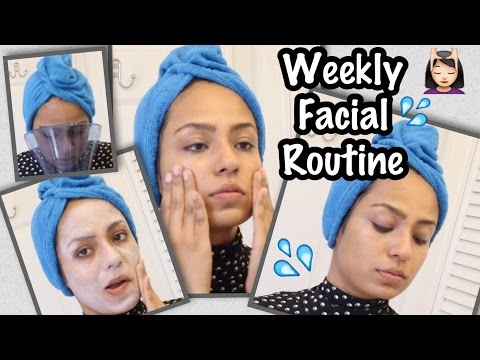 MY AT HOME WEEKLY FACIAL/ SKINCARE ROUTINE FOR COMBINATION SKIN