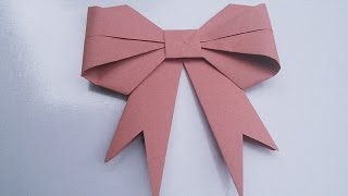 Origami Bow | Easy Hand Work Tutorial | HandiWorks #7