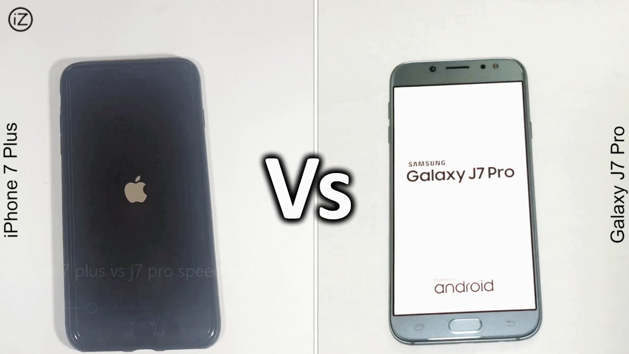 IPhone 7 Plus Vs Galaxy J7 Pro