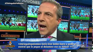 Cristóbal Soria explota: