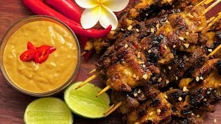How To Make Satay Beef & Chicken Skewers With Satay Sauce.