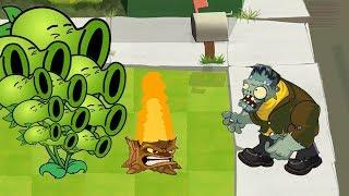 Plants Vs Zombies GW Animation - Episode 25 - Threepeater vs Gargantuar Halloween
