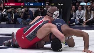 174 LBS: #3 Bo Jordan (Ohio State) vs. #2 Mark Hall (Penn State) | 2018 B1G Wrestling