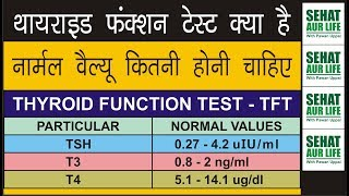 थायराइड फंक्शन टेस्ट नार्मल वैल्यू कितनी होनी चाहिए, Normal Thyroid Levels, Thyroid Test, TSH T3 T4