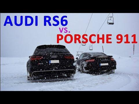 Audi Power - Audi RS6 Vs. Porsche 911 Turbo In Snow 😍❄️💨