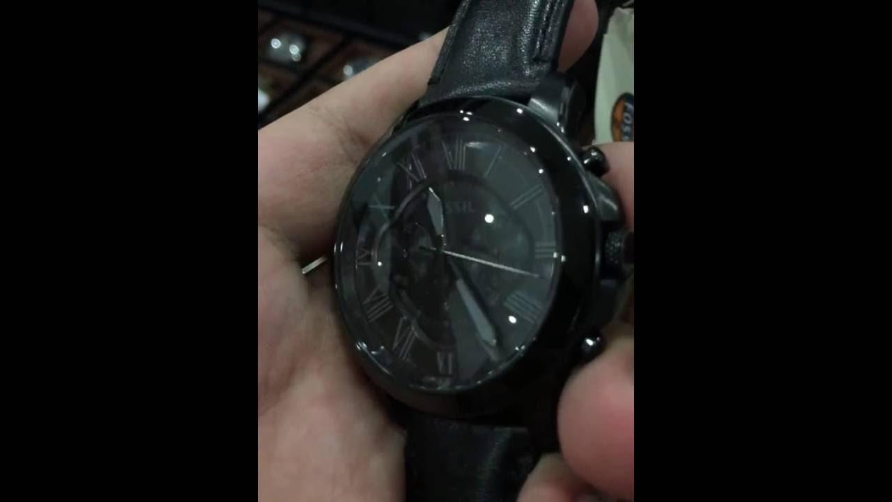 818f966b0 Fossil Grant Black Dial Men's Chronograph Watch FS5132 - YouTube