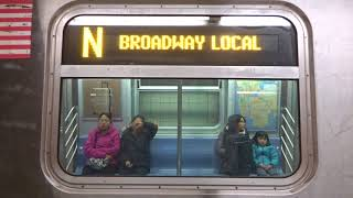 NYC Subway Special: R160 (N) Exterior Destination Sign To 9th Avenue