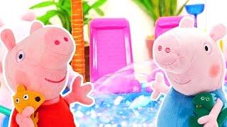 Свинка Пеппа - Игры для детей - Пеппа в аквапарке