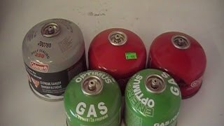 How to refill camping butane tanks