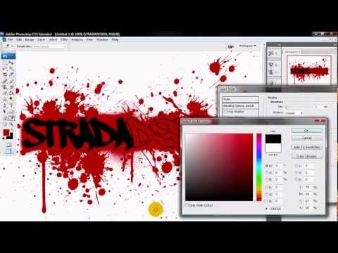 Create Graffiti And Splat Effect Photoshop Cs
