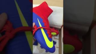 913a812c851 Unboxing 2016-17 New Nike Mercurial Superfly V FG Blue Red Yellow Boots
