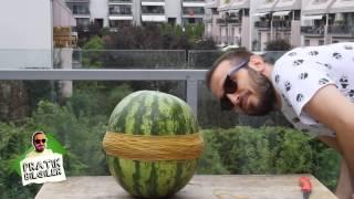 Lastik ile karpuz patlatma failish (Rubber bands vs watermelon) ENG SBT