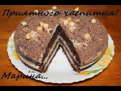 Торт шоколадный с орехами в мультиварке