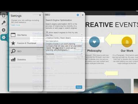 HTML Website Builder | Updating Your SEO Settings