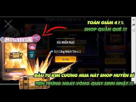 Garena Free Fire | Hết kim cương Củ Tạ nạp thẻ phá đảo shop huyền bí tiện ăn luôn vòng quay may mắn