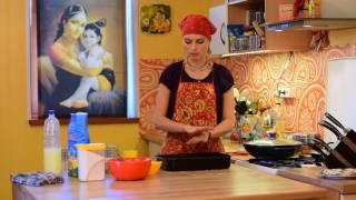 Готовим с Джахнави  Закрытый пирог с капустой 1