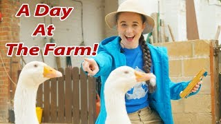 Ellie Explorer Visits the FARM! | Chickens, Ducks and Goats! | My Animal Learning Adventure