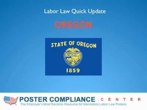 Labor Law Posters: Oregon Labor Law-Minimum Wage-OR