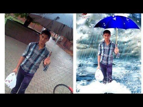 PicsArt Heavy Editing Like Photoshop   Photo Editor Manipulation   Rain Poster