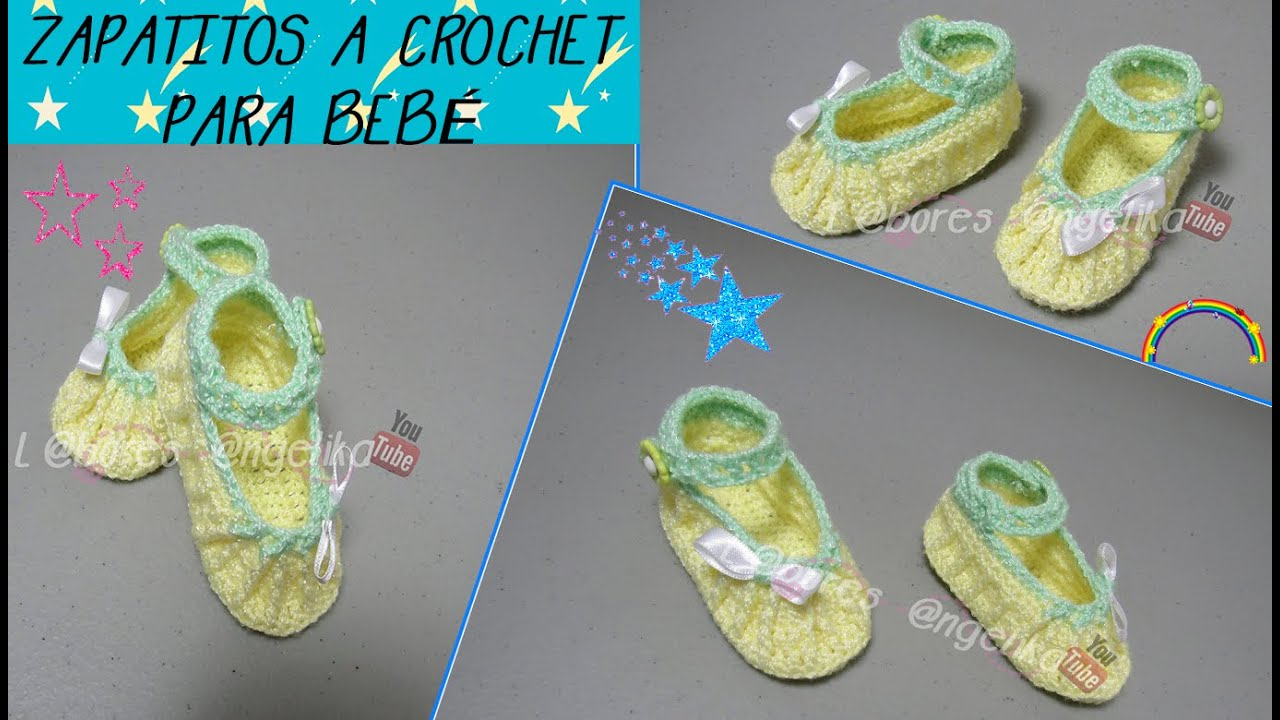 ZAPATITOS TEJIDOS A CROCHET PARA BEBÉ | Labores Angélika | - YouTube