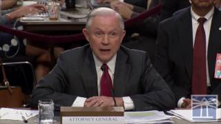Sessions says he never discussed performance with Comey | Sessions testifies before Senate committee