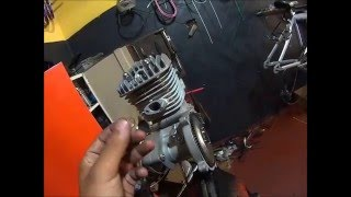 preparando motor de bicicleta, cabeças bikes