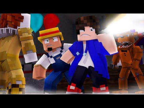 Minecraft: ENCONTRE O BOTÃO DO IT A COISA NA PIZZARIA DO FREDDY !! ‹ DENGOSO ›