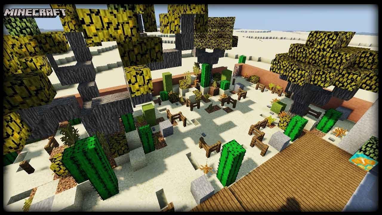 Minecraft - Desert Garden Tutorial! - YouTube