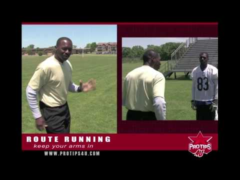 Football Tips: Wide Reciever Route Running with Wendell Davis