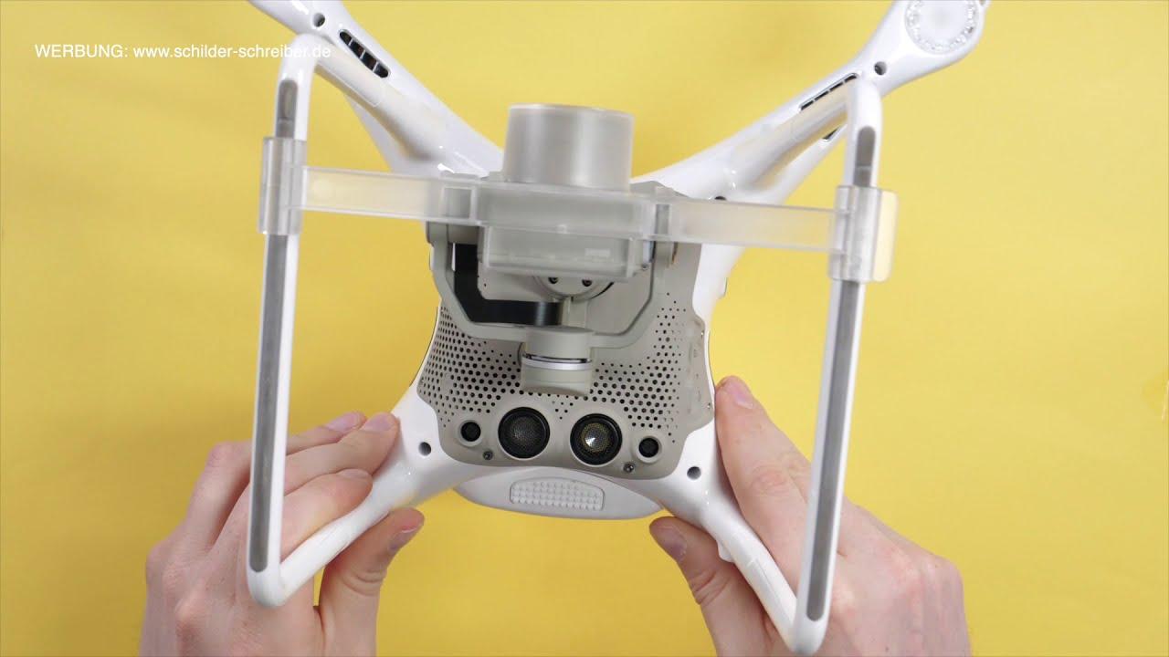 Dji Phantom P4P V2 - Plakette anbringen Tutorial - Wo bringe ich das Drohnen-Kennzeichen an? фото