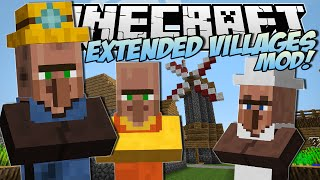 Minecraft  EXTENDED VILLAGES MOD! (Miners, Bakers, Village Finder & More!)  Mod Showcase