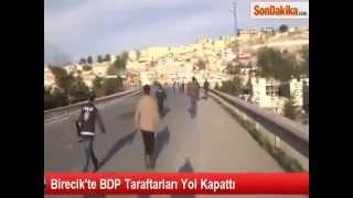 Birecik'te BDP Taraftarları Yol Kapattı