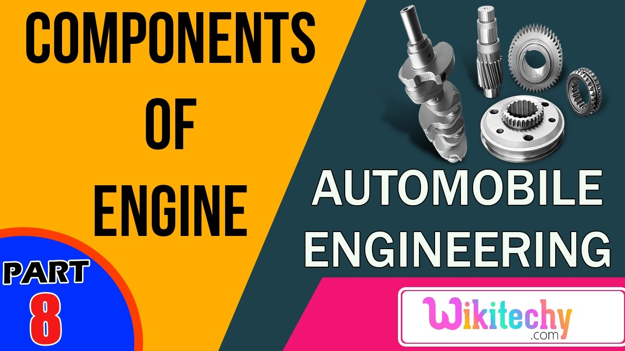 Name few components of engine | Automobile Interview questions and ...