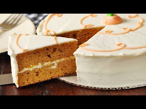 Pumpkin Spice Cake Recipe Demonstration - Joyofbaking.com