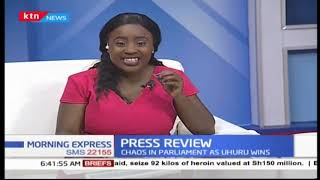 chaos-in-parliament-as-uhuru-wins-press-review