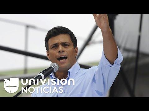 Él es Leopoldo López, quien estuvo en el punto de mira de Hugo Chávez y ahora en el de Maduro