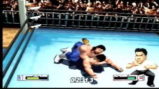 Virtual Pro Wrestling 2 Johnny Smith vs Kentaro Shiga
