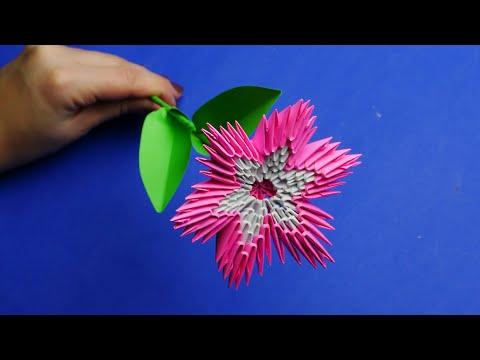 Как сделать цветок из цветной бумаги своими руками. МОДУЛЬНОЕ ОРИГАМИ