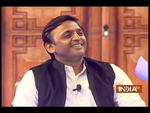 UP CM Akhilesh Yadav in Aap Ki Adalat (2017) at Chunav Manch 2017