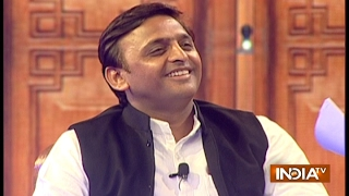UP CM Akhilesh Yadav in Aap Ki Adalat (2017) at Chunav Manch 2017