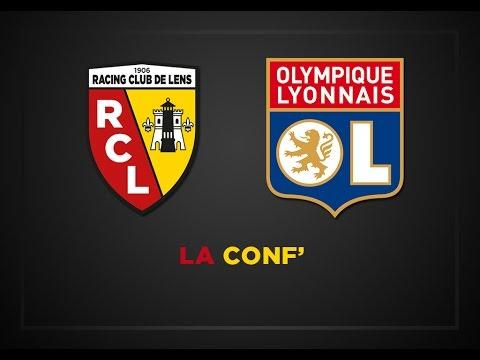 La conférence de presse avant Lens - Lyon