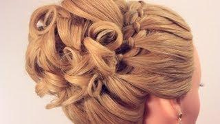 Вечерняя прическа на длинные волосы. Wedding prom hairstyle(, 2013-03-20T21:19:46.000Z)