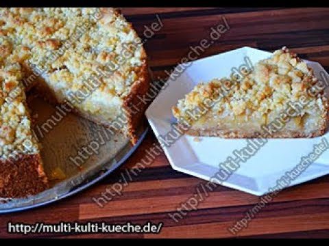 schneller apfelkuchen mit streuseln simple easy apple crumble pie recipe youtube. Black Bedroom Furniture Sets. Home Design Ideas
