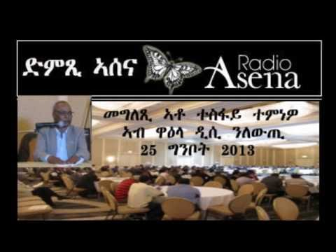 Voice of Assenna: Mr Tesfai Temnewo's Speech at the DC Conference for Change, May 25th, 2013